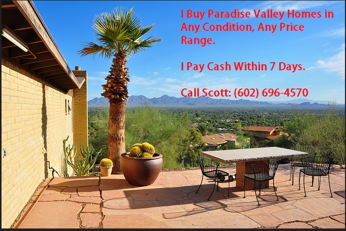 We Buy Paradise Valley Homes Cash